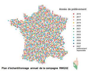Plan d'échantillonnage annuel de la campagne RMQS2